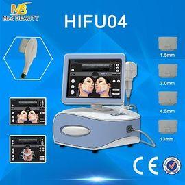 चीन पोर्टेबल Hifu मशीन सौंदर्य उपकरण सतही भाग डर्मिस और SMAS वितरक